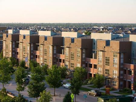 Beautiful exterior view of our apartments for rent in Denver at Botanica Town Center