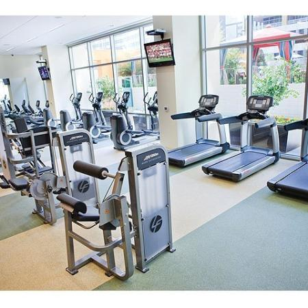 Amenities: Fitness Center | The Element Mercantile Place Apartments