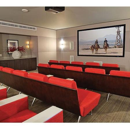 Amenities: Theater Room | The Element Mercantile Place Apartments