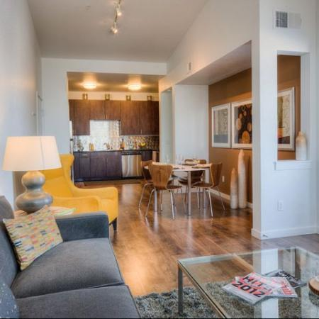 Connected living spaces are the focal point of our Denver apartments at Botanica Eastbridge