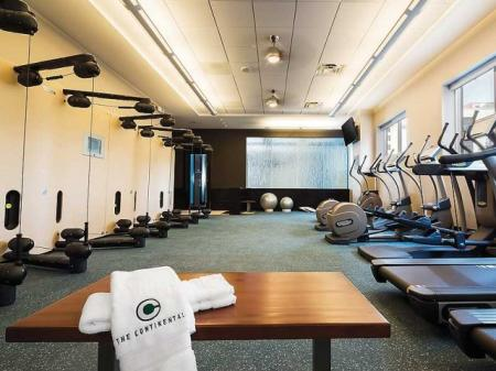 Luxury Amenities: Fitness Center | The Continental Mercantile Place Apartments