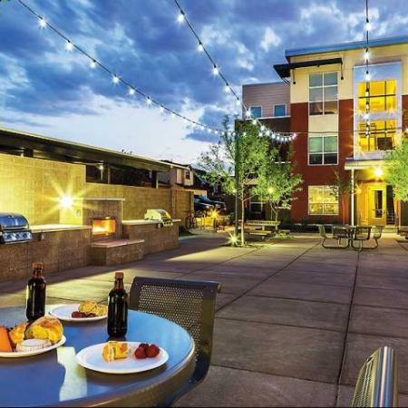 Inviting community grounds make up our luxury Denver apartments at Botanica Eastbridge