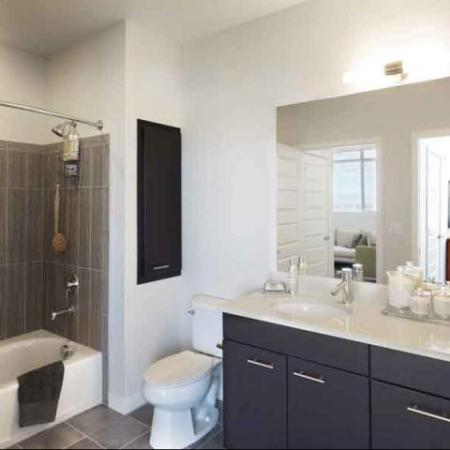 Modern bathrooms at The Aster Conservatory Green