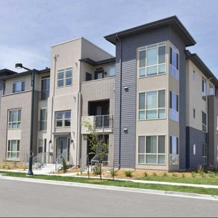 Streetside View | apartments in Denver at the Aster Conservatory Green
