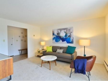 Living Room at Midtown Towers | Parma, OH Apartments