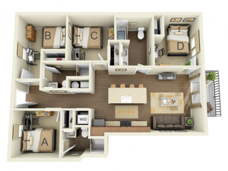 Four Bedroom - A