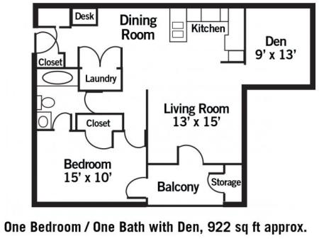 The Oxford - 1 Bedroom + Den
