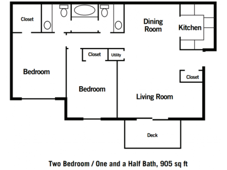 Two Bedroom One and a Half Bath