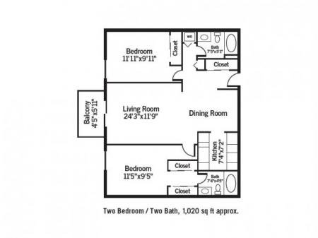 Two Bedroom / Two Bath