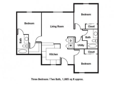 Three Bedroom / Two Bath