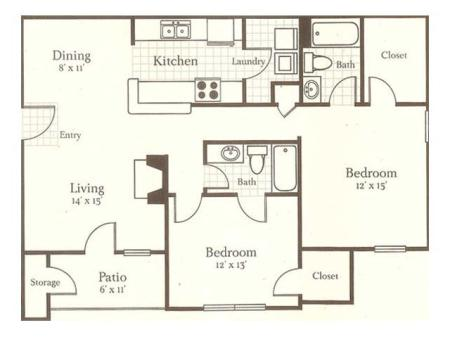 Two Bedroom/ Two Bathroom