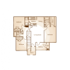 2D Floor Plan image 1 for the 3 BR A Floor Plan of Property Central Park Apartments