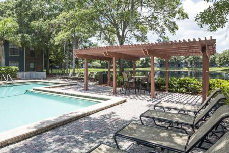 Pool Lounge | Landmark at Avery Place Apartment Homes Tampa, FL