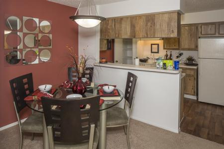 Kitchen and Dining Area | Landmark at Avery Place Apartment Homes Tampa, FL
