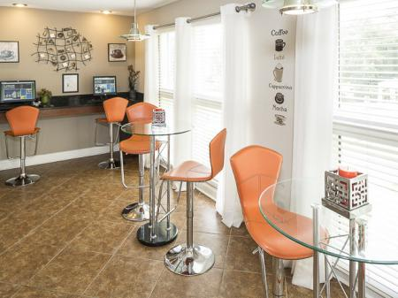 Cafe Seating | Landmark at Bella Vista Apartment Homes Duluth, GA