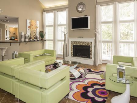 Lounge Area | Landmark at Bella Vista Apartment Homes Duluth, GA