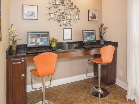 Business Center | Landmark at Bella Vista Apartment Homes Duluth, GA