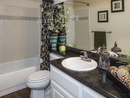 Decorated Bathroom | Landmark at Bella Vista Apartment Homes Duluth, GA