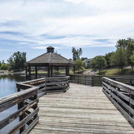 Dock with Gazebo | Caveness Farms Apartment Homes Wake Forest, NC
