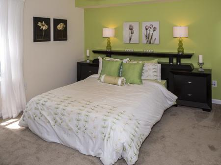 Furnished Bedroom | Caveness Farms Apartment Homes Wake Forest, NC