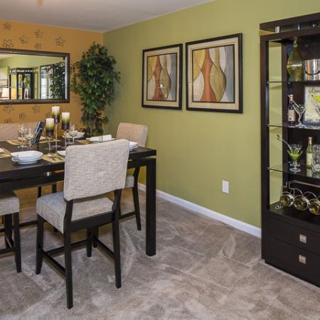 Dining Room | Caveness Farms Apartment Homes Wake Forest, NC