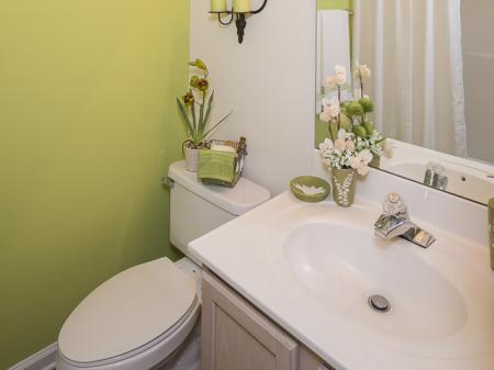 Decorated Bathroom | Caveness Farms Apartment Homes