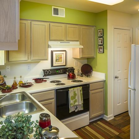 Decorated Kitchen | Caveness Farms Apartment Homes Wake Forest, NC