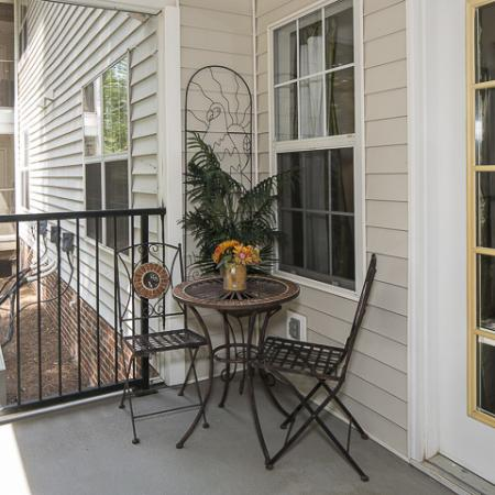 Private Patio | Caveness Farms Apartment Homes Wake Forest, NC