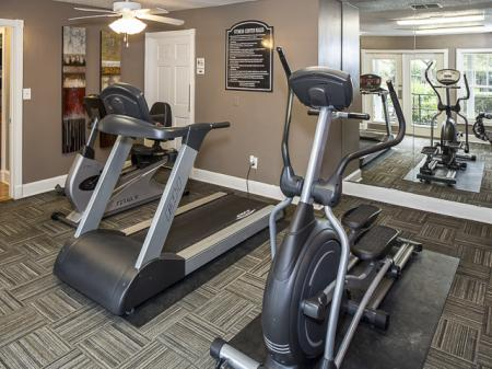 Fitness Center | Landmark at Chesterfield Apartment Homes in Pineville, NC