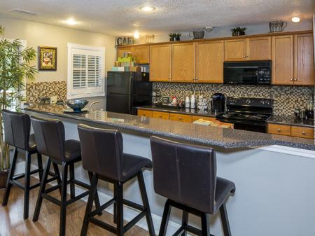 Kitchen Bar | Landmark at Chesterfield Apartment Homes in Pineville, NC