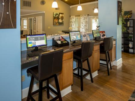 Business Center | Landmark at Chesterfield Apartment Homes in Pineville, NC