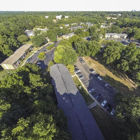 Aerial View of Grand Arbor Reserve Apartment Homes Raleigh, NC