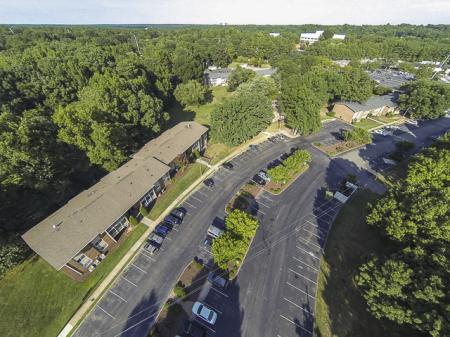 Aerial Image of Grand Arbor Reserve Apartment Homes Raleigh, NC