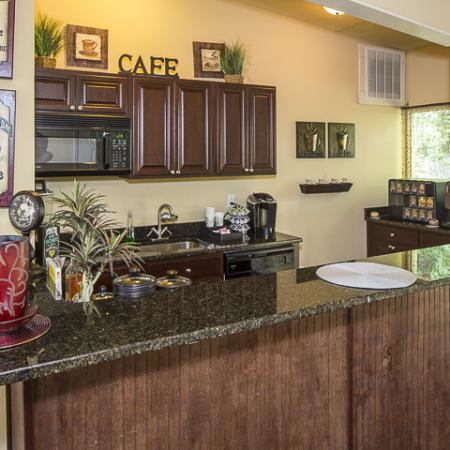Kitchen with Breakfast Bar | Grand Arbor Reserve Apartment Homes Raleigh, NC