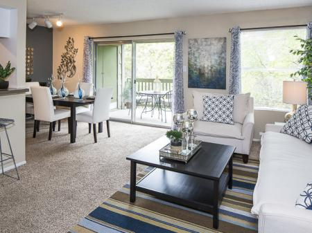 Open Living and Dining Area | Landmark at Barton Creek Apartment Homes in Austin, TX