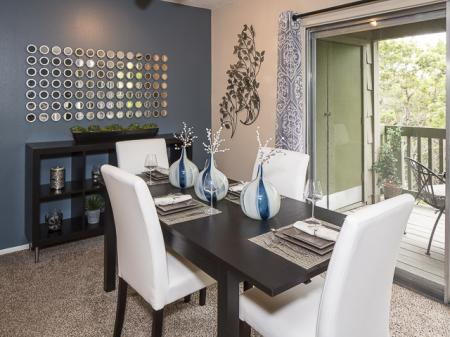 Dining Room | Landmark at Barton Creek Apartment Homes in Austin, TX