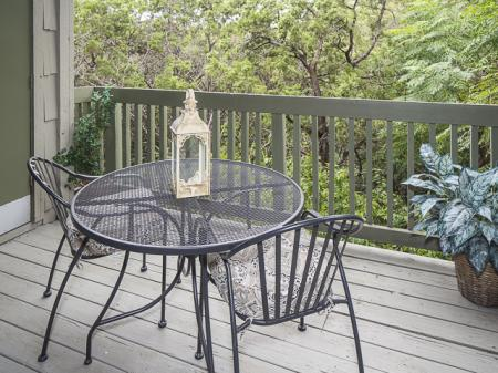 Private Patio | Landmark at Barton Creek Apartment Homes in Austin, TX