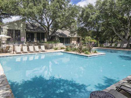 Resident Swimming Pool | Landmark at Barton Creek Apartment Homes in Austin, TX
