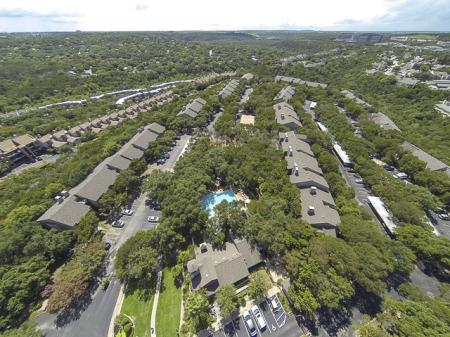 Aerial View of Landmark at Barton Creek Apartment Homes in Austin, TX