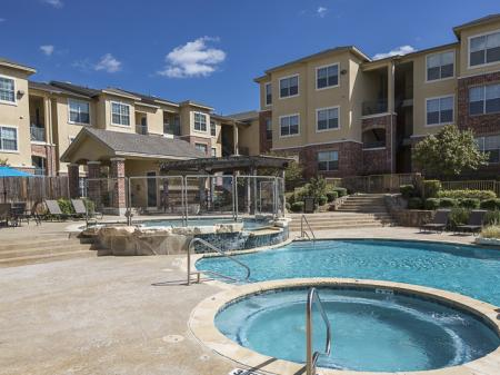 Bella Ruscello Apartments in Duncanville, TX | Pool and Hot tub
