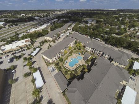 Aerial view of Bella Ruscello Luxury Apartment Homes
