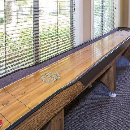 Game Room with Shuffle Board | Rock Ridge Apartment Homes Arlington, TX