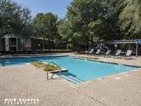 Resident Swimming Pool | Landmark at Collin Creek Apartment Homes in Plano, TX