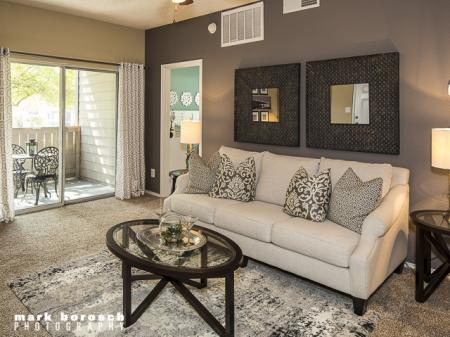 Living Room | Landmark at Collin Creek Apartment Homes in Plano, TX