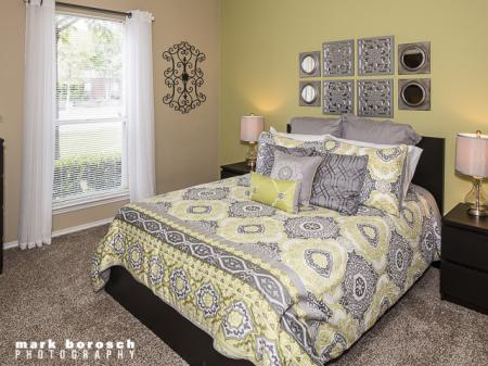 Bedroom | Landmark at Collin Creek Apartment Homes in Plano, TX
