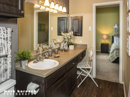 Bathroom | Landmark at Collin Creek Apartment Homes in Plano, TX