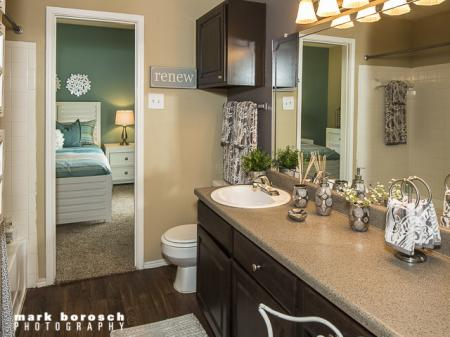 Large Bathroom | Landmark at Collin Creek Apartment Homes in Plano, TX
