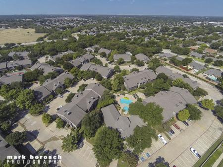 Aerial Image | Landmark at Collin Creek Apartment Homes in Plano, TX