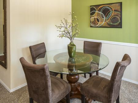Dining Room | Crestmont Reserve Apartment Homes Dallas, TX