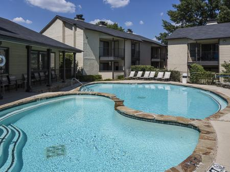Resident Pool | Kensington Station Apartment Homes in Bedford, TX